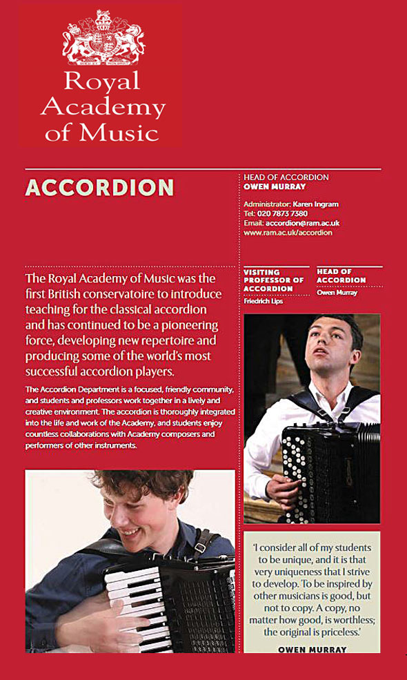 Welcome to the website of Accordionist Owen Murray